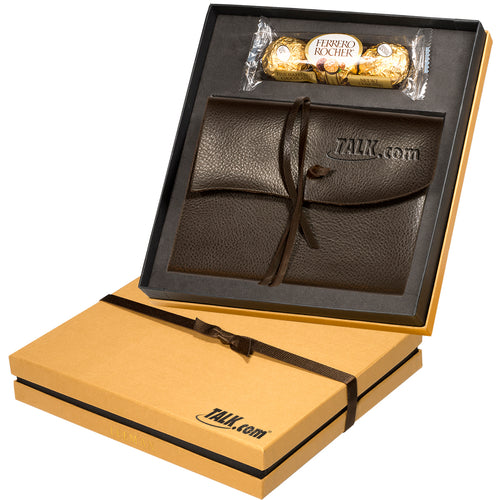 Ferrero Rocher® Chocolates & Americana Leather Wrapped Journal Gift Set