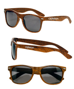 Retro Woodgrain Sunglasses