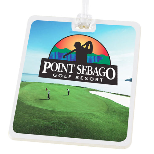 Rectangle Golf Tag with Digital Process Imprint