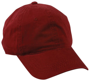 6 Panel Unstructured Cap with Tuck Strap Closure