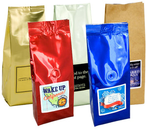 6 Oz. Gourmet Coffee Bag (Printed Label)