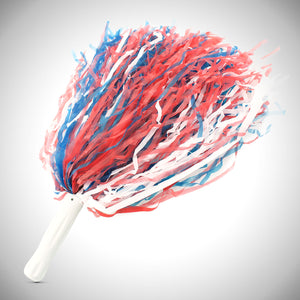 "16"" Red/ White/ Blue Plastic Pom Poms"