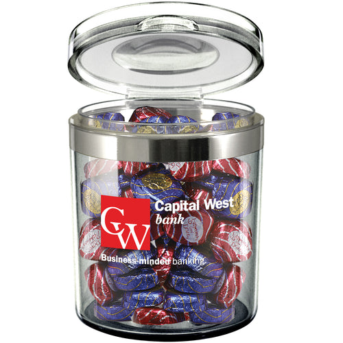 Small Circle Acrylic Canister (24 Oz.)