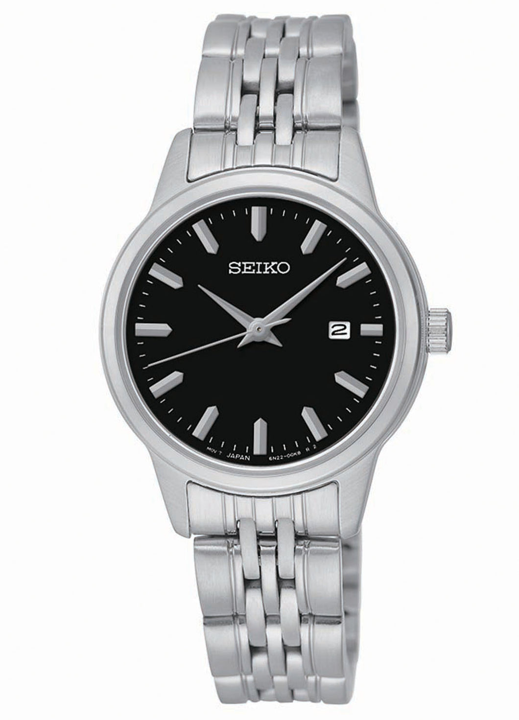 Seiko Women's Prime Stainless Steel Black Dial Watch