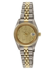 ABelle Promotional Time Saturn Medallion Lady's Two Tone Watch