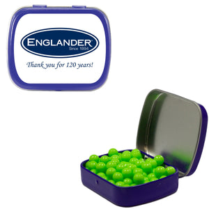 Mint Tin with Mints, Candy, Gum, or Chocolate