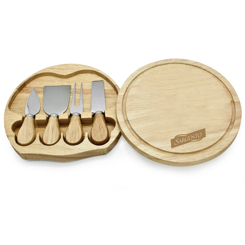 Madison 5 Piece Cheese Set/ Cutting Board
