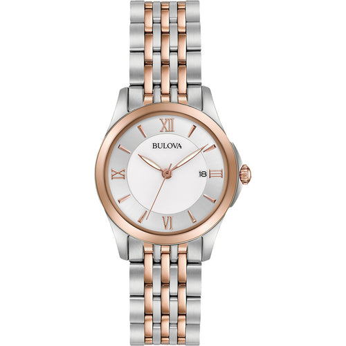 Bulova Women's Dress Two-Tone Stainless Steel Bracelet Watch