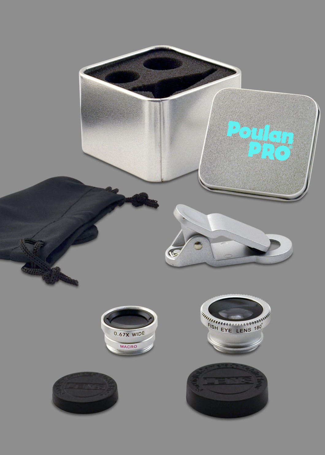 3-in-1 Macro, Wide Angle & Fish Eye Lens Set in Tin Gift Box