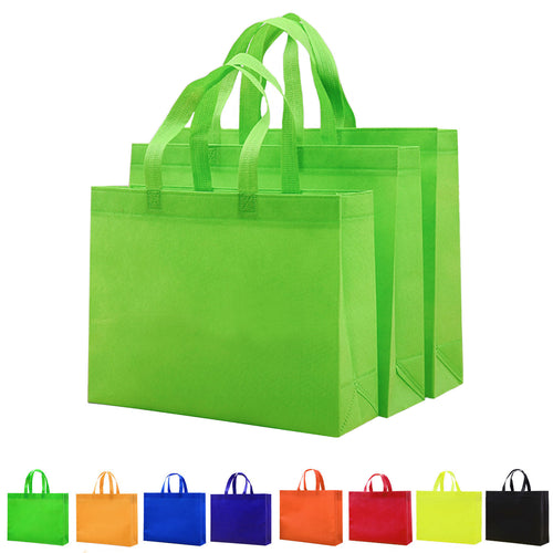 Non-Woven Laminated Long Handle Bags Handbags Fabric Shopping Cubby Totes