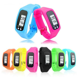 Multi-function Silicone Pedometer Tracker Watch