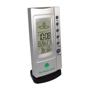 Clock - Weather Station - Weather Forecast Multifunction Desk Alarm Clock