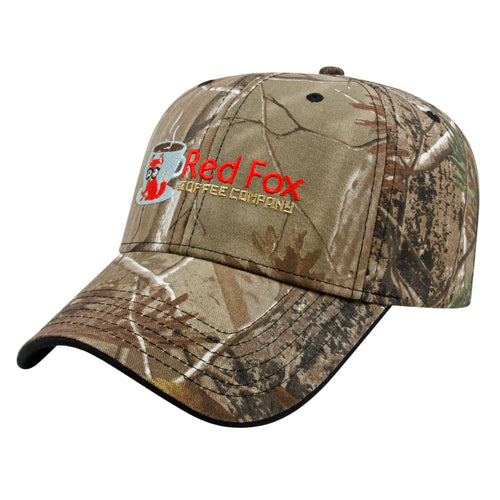 Two-Tone Camo Cap w/Black Visor Trim
