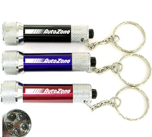 5 LED Metal Flashlight with Swivel Keychain