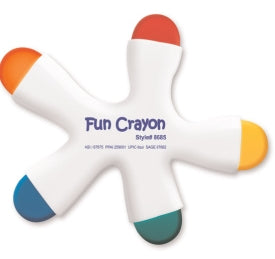 Fun Crayon™ 5 Color Crayon in Ergonomic Design