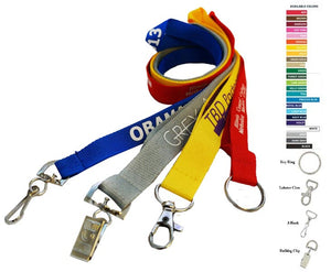 "Custom Lanyards - 7 DAYS Delivered Printed Polyester 3/4"" (20 mm)"