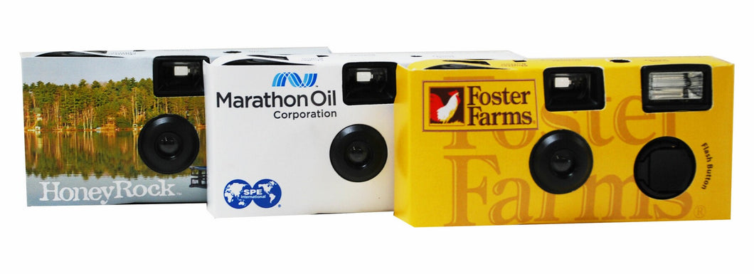 Custom Disposable Flash Camera W/27 Exposures
