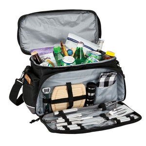 Penn Valley 15 Can Cooler Bag with Picnic/BBQ Set