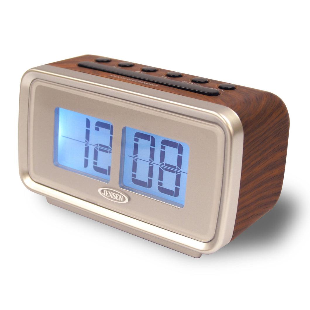 Jensen AM/FM Dual Alarm Clock w/Digital Retro