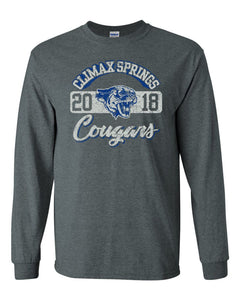 2400 Long Sleeve Cougar Tees - Climax Springs Booster Club