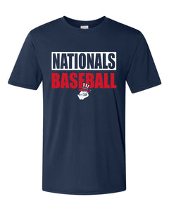 46000 Nationals Baseball Moisture Wicking Tee - Midwest Nationals