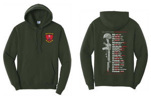 PC78H Hoodie - 1st Battalion 5th Marine Memorial Design by Resolution Gear