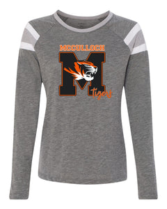 3012 LADIES Long Sleeve Fanatic Shirt M Design - McCulloch Elementary