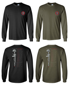 2400 Long Sleeve Tee - 3rd Battalion 2nd Marines 2012 Memorial Design by Resolution Gear