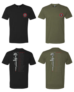 6210 Short Sleeve Tee - 3rd Battalion 2nd Marine 2012 Memorial Design by Resolution Gear