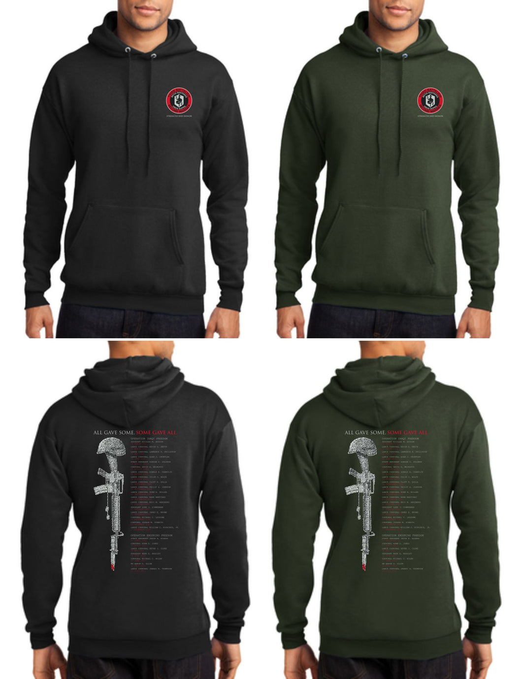 PC78H Hoodie - 3rd Battalion 2nd Marine 2012 Memorial Design by Resolution Gear