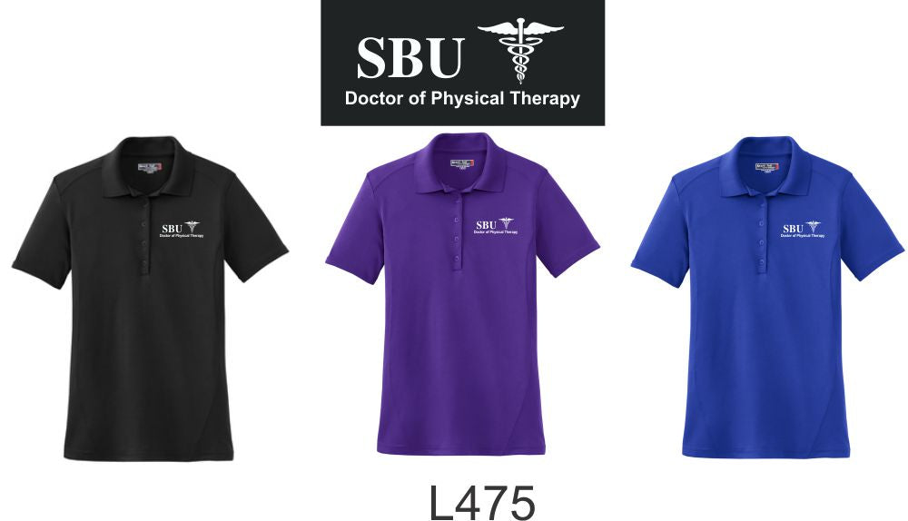 L475 LADIES Polo WITH SBU Logo - Southwest Baptist University Doctor of Physical Therapy