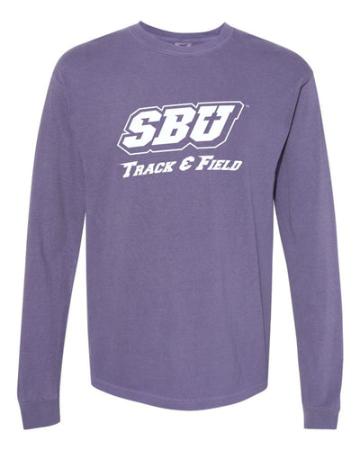 Comfort Color Long Sleeve - SBU Track and Field Fundraiser