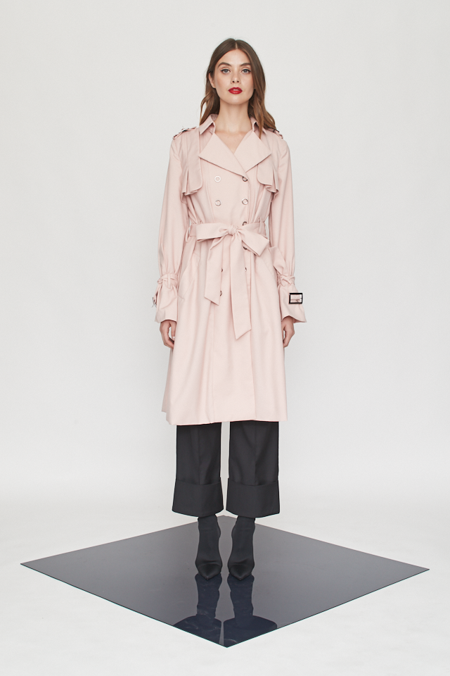 Belted Flares Trench Coat