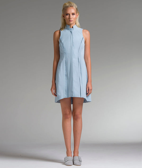 Collared Shift Shirt Dress
