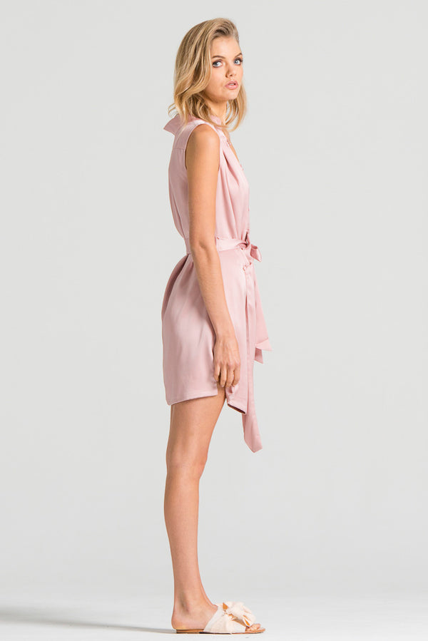 Slinky Wrap Dress Pink