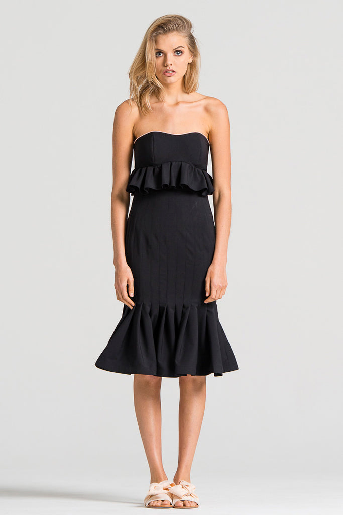 Bustle Pipeline Dress Black