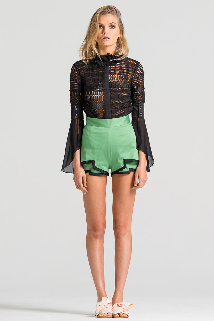 Boarder Bind Shorts Green and Black