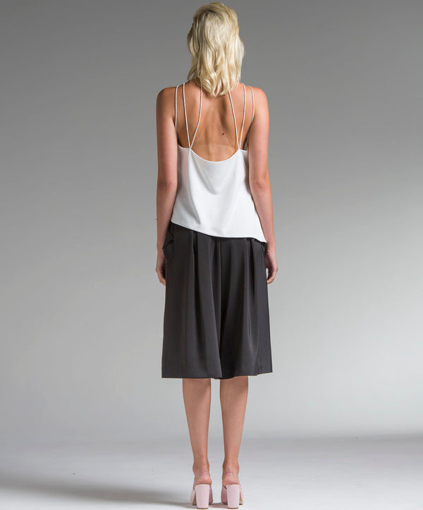 Draped Angular Halter Top