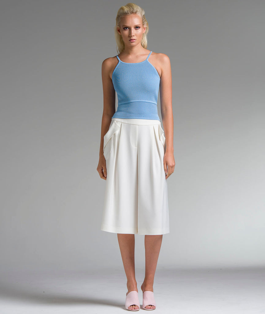 Draped Pocket Culottes