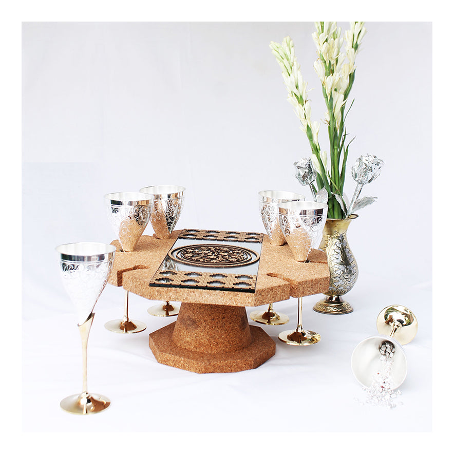 Aiyanakaari: The Centrepiece Wine Glass Holder