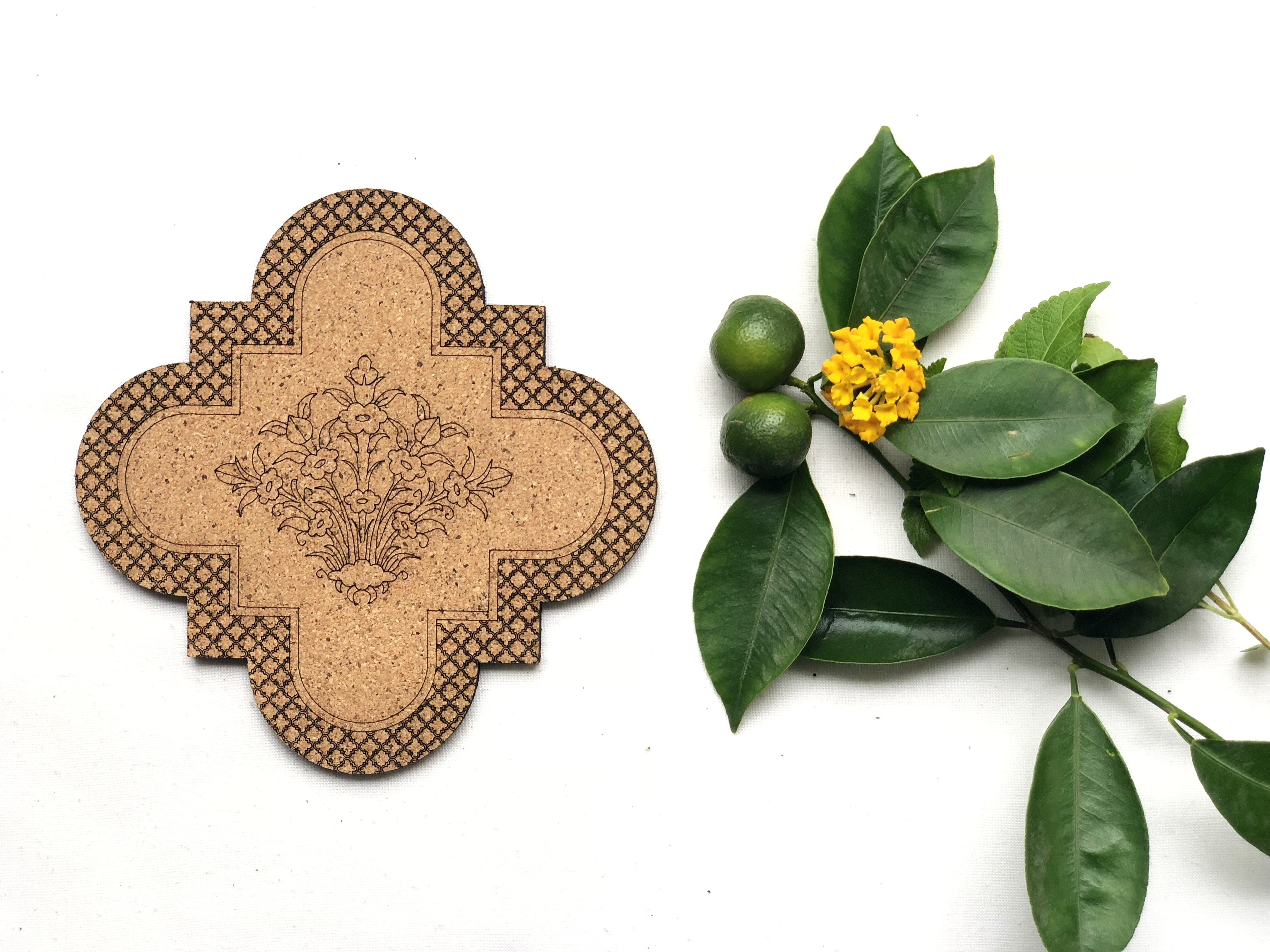Jaali Coasters: Guldasta (set of 4)