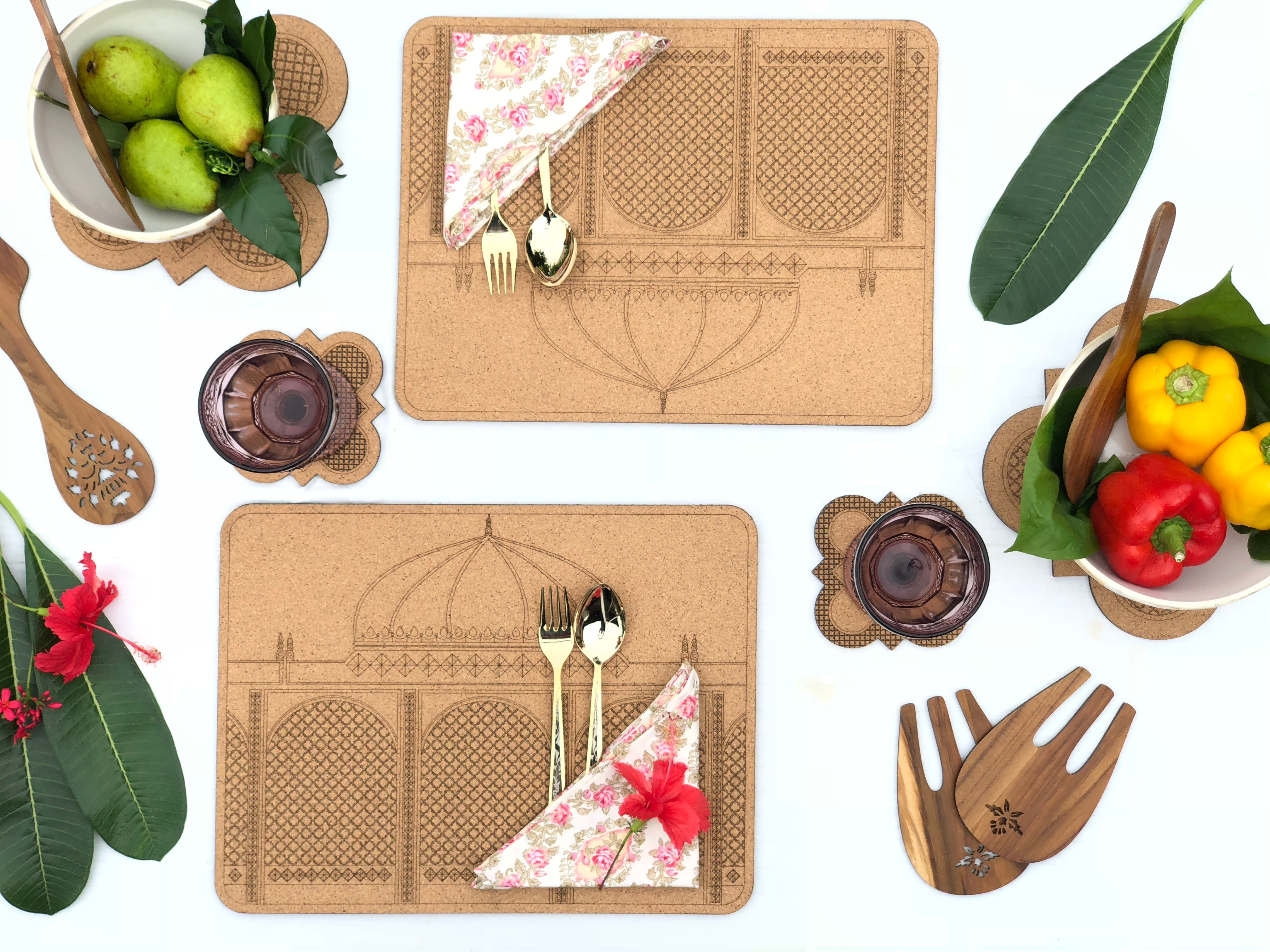 Darbaar Placemats: Taj (set of 2)