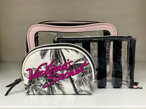 VICTORIA'S SECRET POUCH SET OF 3 - BEACH EDITION