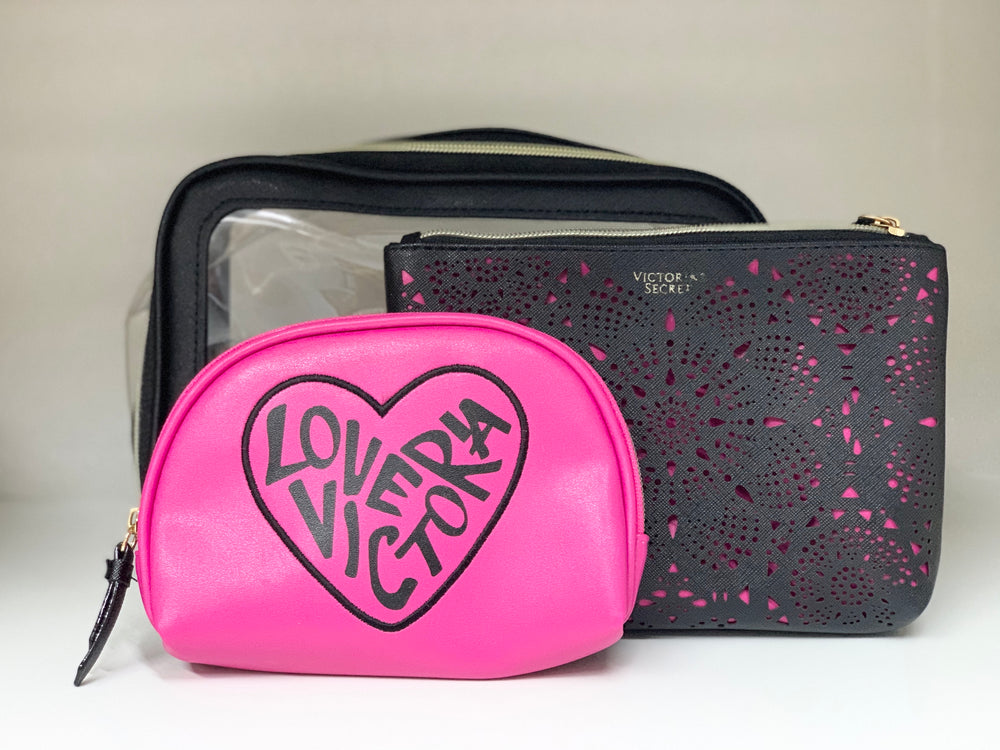Load image into Gallery viewer, VICTORIA'S SECRET LOVE - POUCH SET OF 3