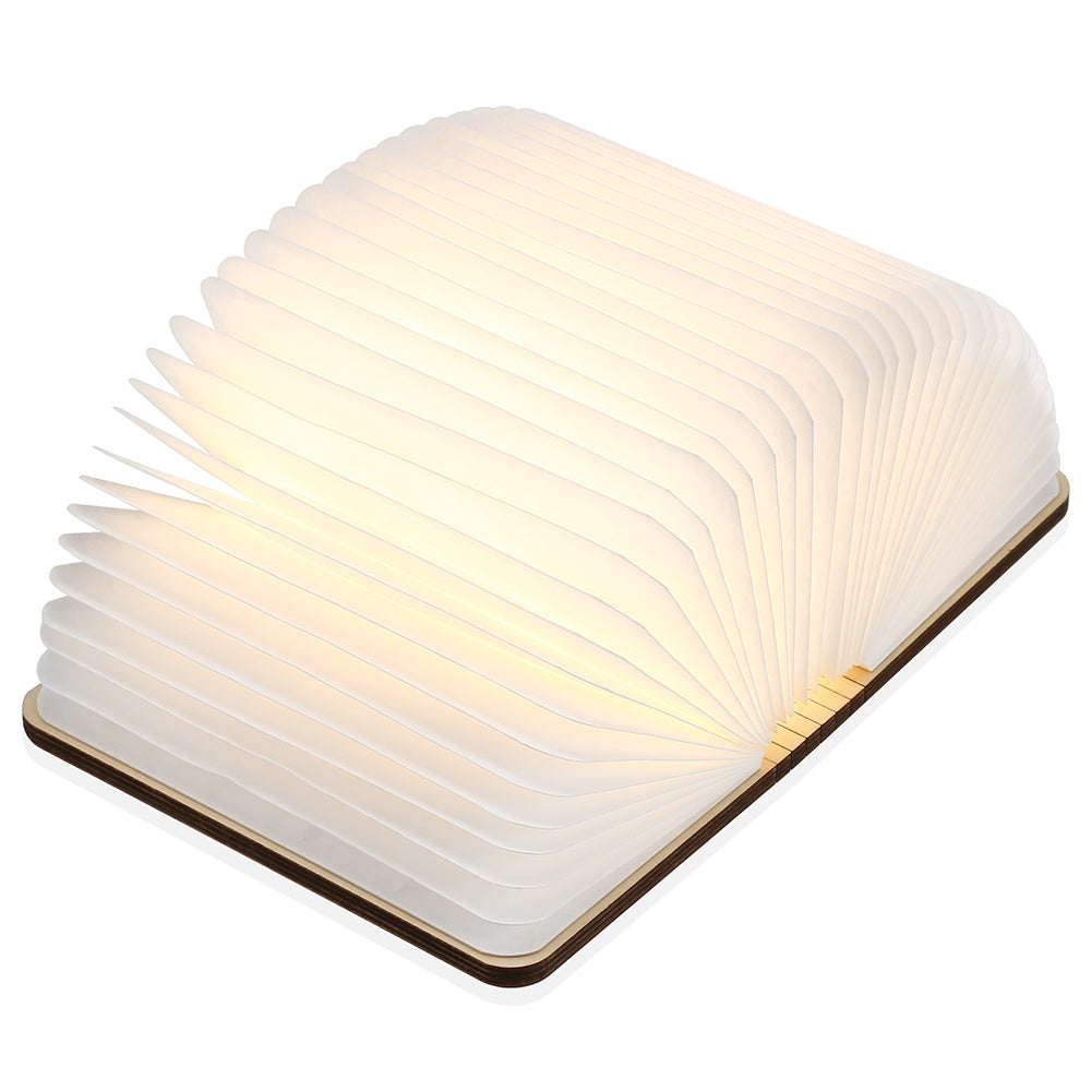 M - 001 Warm White LED Wooden Folding Mini Book Shape Light