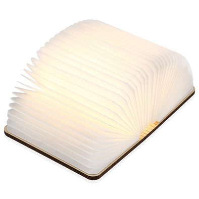 M - 001 Warm White LED Wooden Folding Mini Book Shape Light - SmartTechShopping