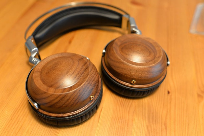Real Wooden look Anti Headphones
