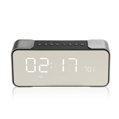 TOPROAD Protable Bluetooth Speaker Stereo Bass boombox LED Display Support Handsfree Mic FM Alarm Clock TF