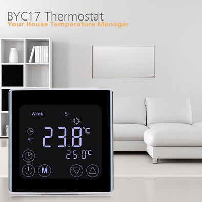 Smart LCD Display Heating Thermostat TouchScreen Room Temperature Controller Programmable Underfloor Home Temperature Instrument - SmartTechShopping