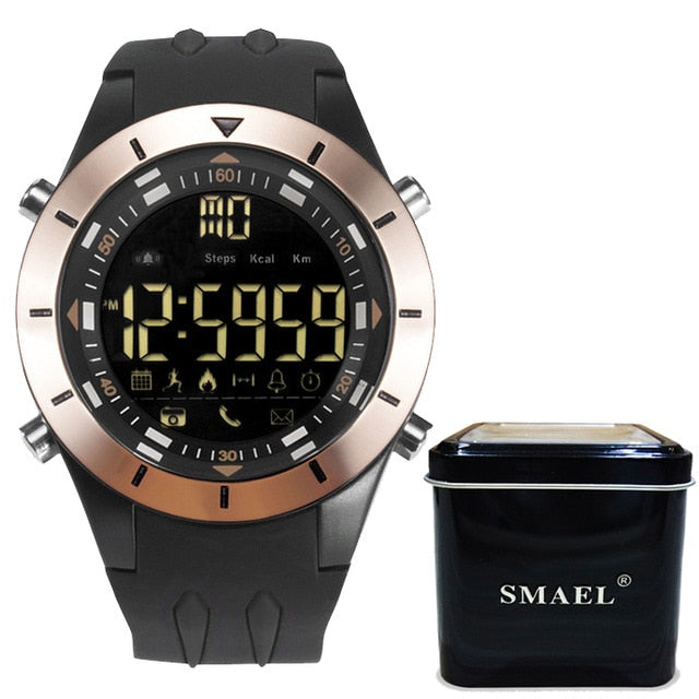 SMAEL New Men Smart Watch Pedometer Clock Fitness Bluetooth Phone Message Push Sports Healthy Waterproof Smartwatch Watches Male